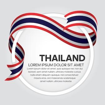 Thailand-bandflaggen-vektorillustration auf einem weißen hintergrund