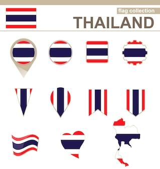 Thailand flag collection, 12 versionen