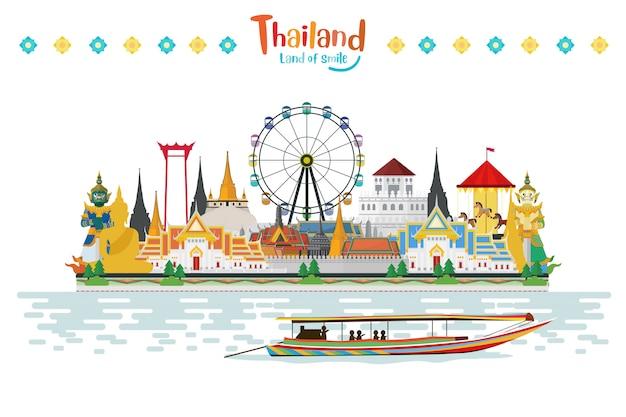 Thailand-reise mit anziehungskräften und feiern