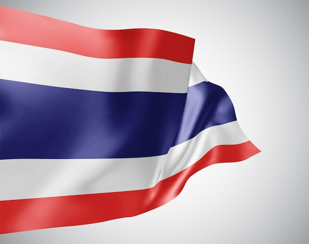 Thailand, vektor-3d-flagge isoliert auf weißem hintergrund