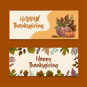 Thanksgiving-banner-illustration