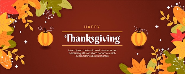 Thanksgiving-banner im flachen design