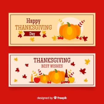Thanksgiving-banner in flache bauform