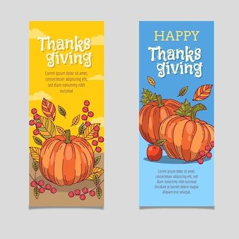 Thanksgiving banner sammlung