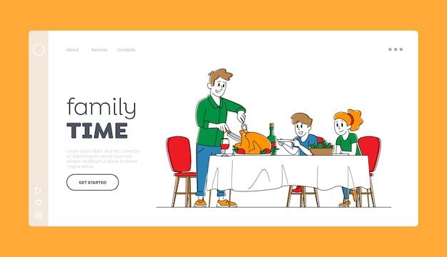 Thanksgiving day landing page vorlage