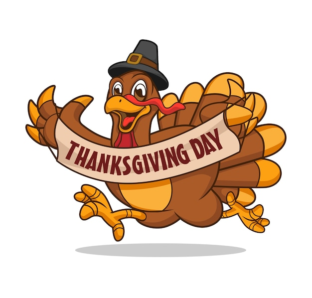 Thanksgiving day maskottchen logo design