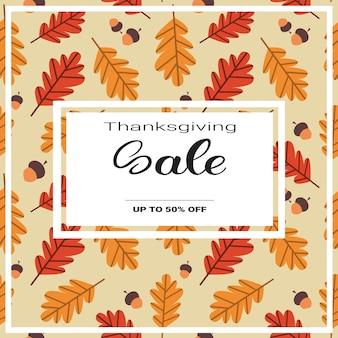 Thanksgiving day sale herbst traditionelles einkaufen rabatt saisonale preis von banner