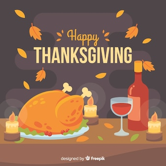 Thanksgiving day thema hintergrund konzept