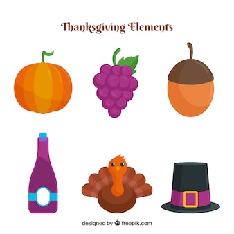 Thanksgiving-elemente packen