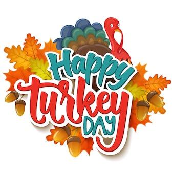 Thanksgiving-grüße mit herbstlaub