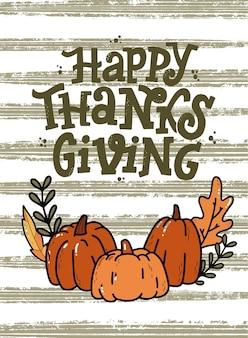Thanksgiving-grußkarte mit schriftzug zitat