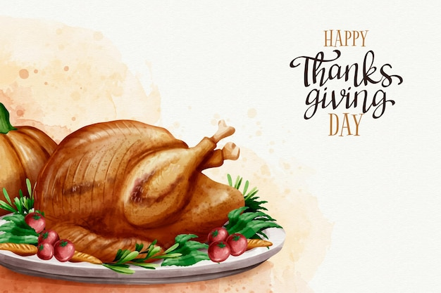 Thanksgiving hintergrund aquarell design