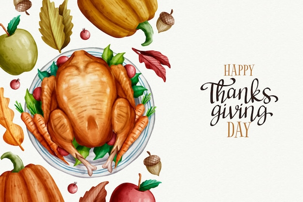 Thanksgiving hintergrund aquarell stil
