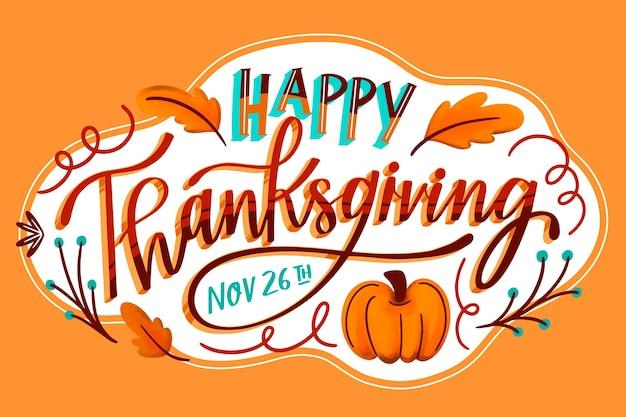 Thanksgiving hintergrund hand gezeichnet