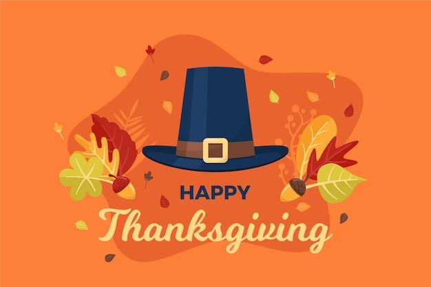 Thanksgiving-hintergrund im flachen design