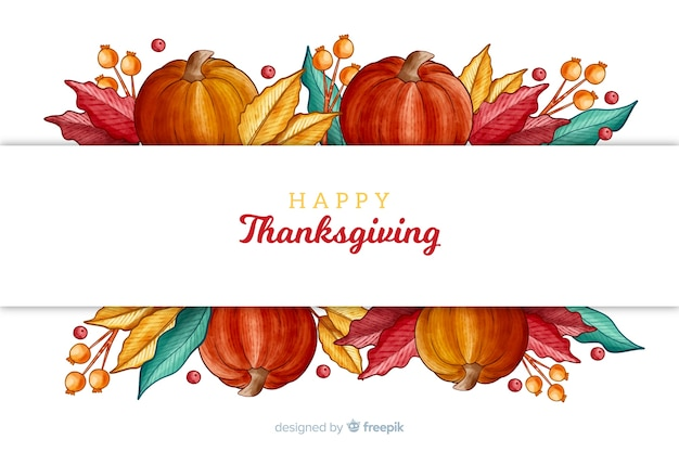 Thanksgiving hintergrund in aquarell