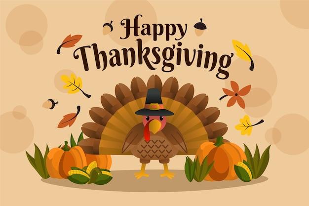 Thanksgiving hintergrund in der hand gezeichnet