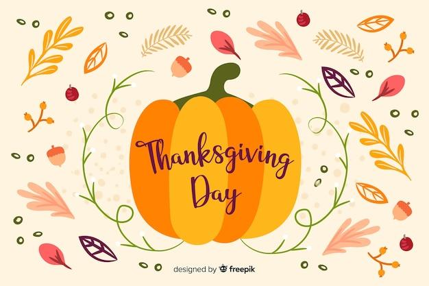 Thanksgiving-hintergrund-konzept-design