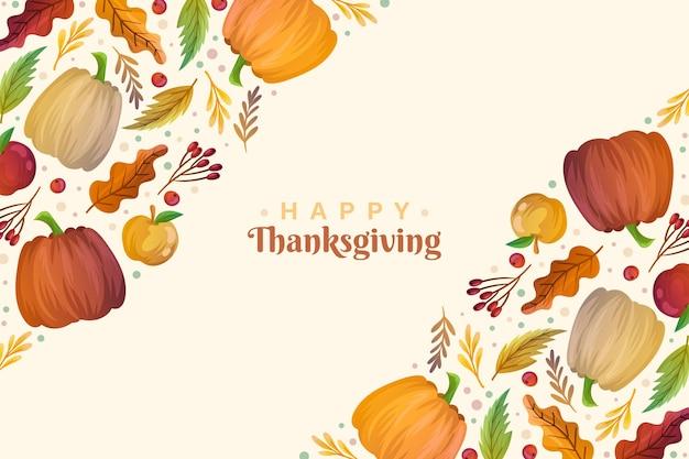Thanksgiving-hintergrund mit ernte
