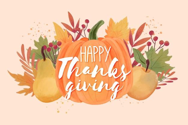 Thanksgiving-hintergrund mit früchten