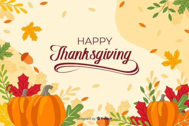 Thanksgiving-hintergrund mit schriftzug
