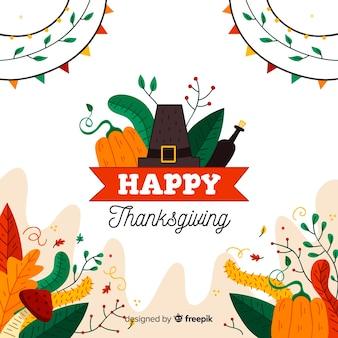 Thanksgiving hintergrund zeichnungskonzept