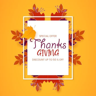 Thanksgiving holiday sale poster,