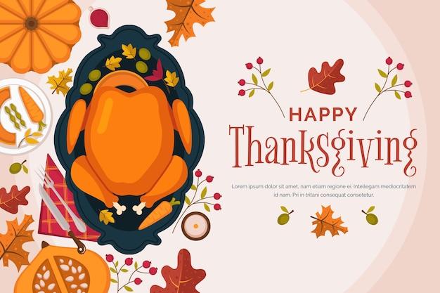 Thanksgiving-konzept im flachen design