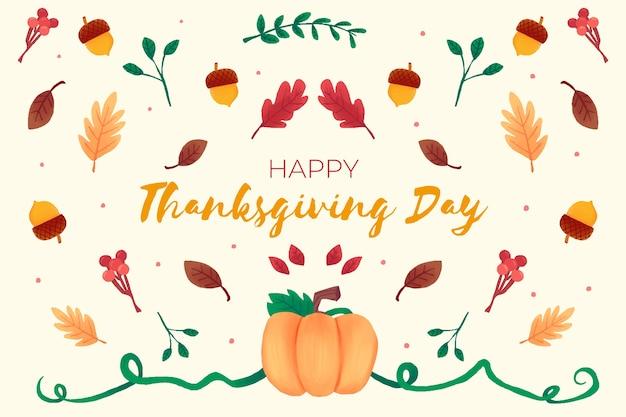 Thanksgiving-konzept in aquarell