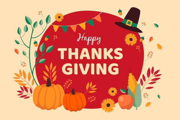 Thanksgiving-konzept in der hand gezeichnet