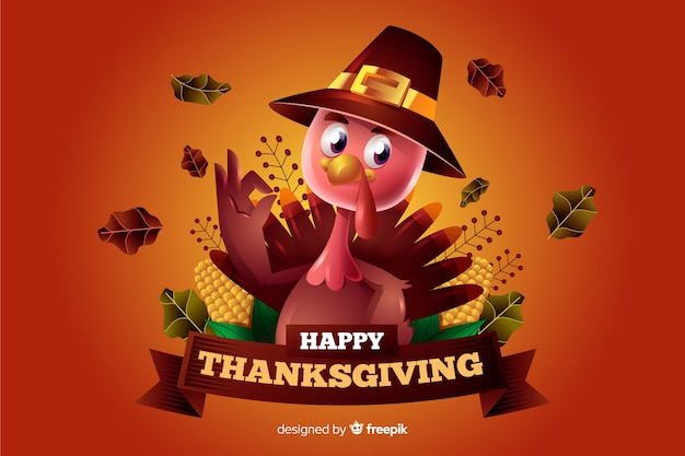Thanksgiving-konzept mit realistischen hintergrund
