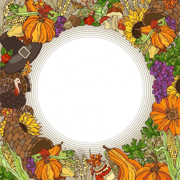 Thanksgiving-kreisrahmen