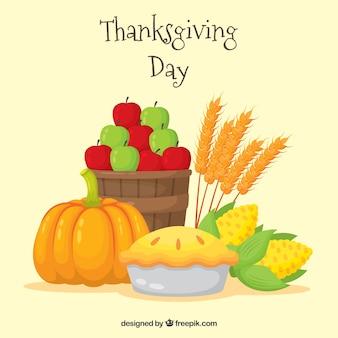 Thanksgiving leckeres essen hintergrund
