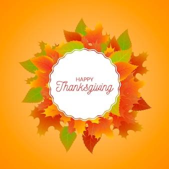 Thanksgiving realistischen hintergrund