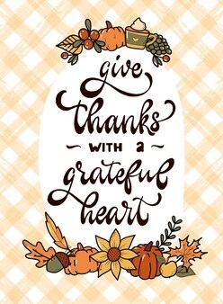 Thanksgiving-schriftzug-zitat für kartenplakate