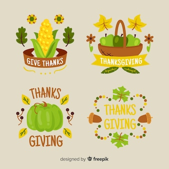 Thanksgiving-thema für etikettensammlung