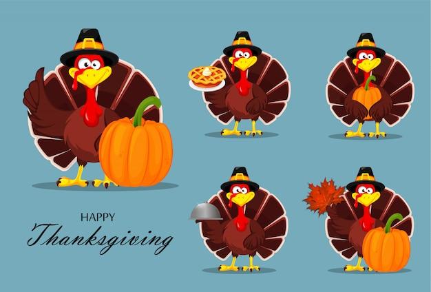 Thanksgiving-truthahn. glücklicher erntedankfest