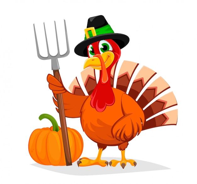Thanksgiving-truthahn. glücklicher erntedankfest.