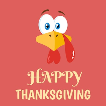Thanksgiving-truthahn-zeichentrickfilm-figur-flaches design