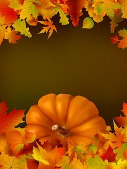 Thanksgiving-vorlage mit kopierplatz
