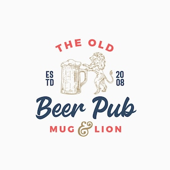 The old beer pub oder bar abstraktes zeichen, symbol oder logo