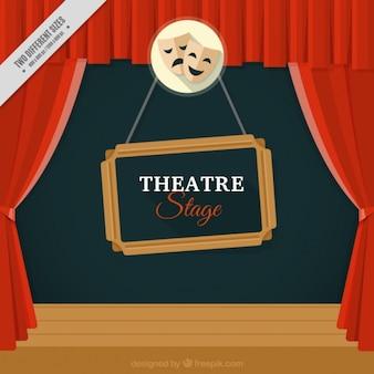 Theater bühnenhintergrund