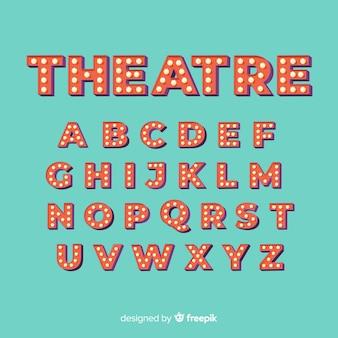 Theater glühbirne alphabet