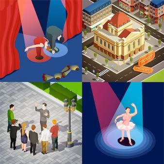 Theater isometrisches set