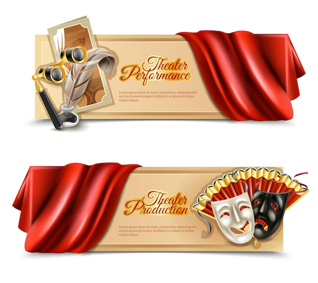 Theater leistung banner set