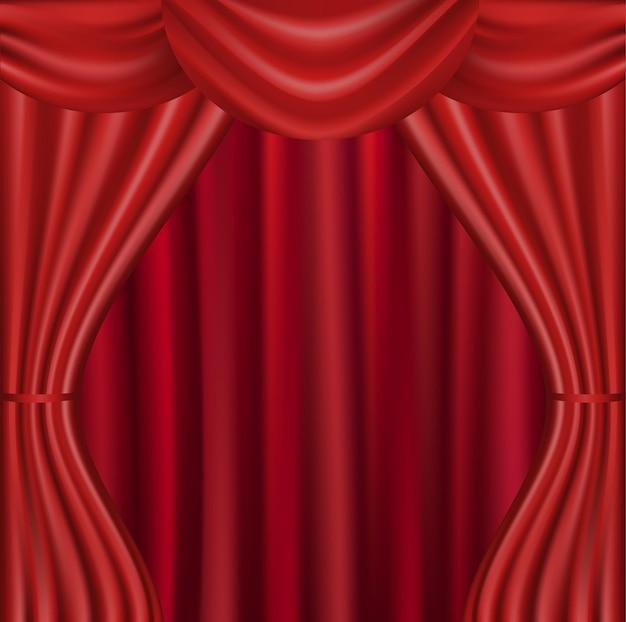 Theater samtvorhang mit lichtern und schatten
