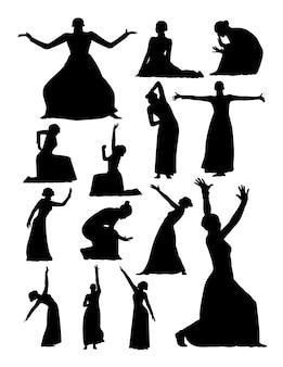 Theater- und opernsilhouette