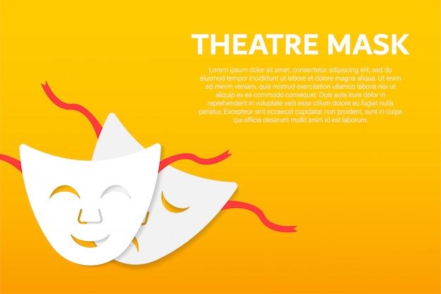 Theatermasken für komödien und tragödien