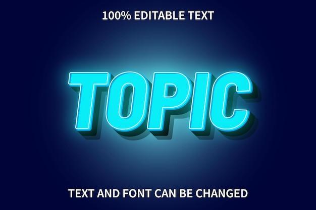 Thema bearbeitbarer texteffekt neonstil