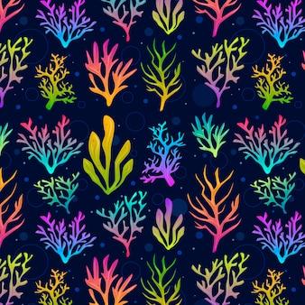 Thema der korallenmustersammlung
